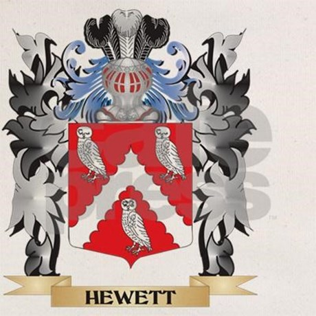 hewett_coat_of_arms_family_crest_beach_tote